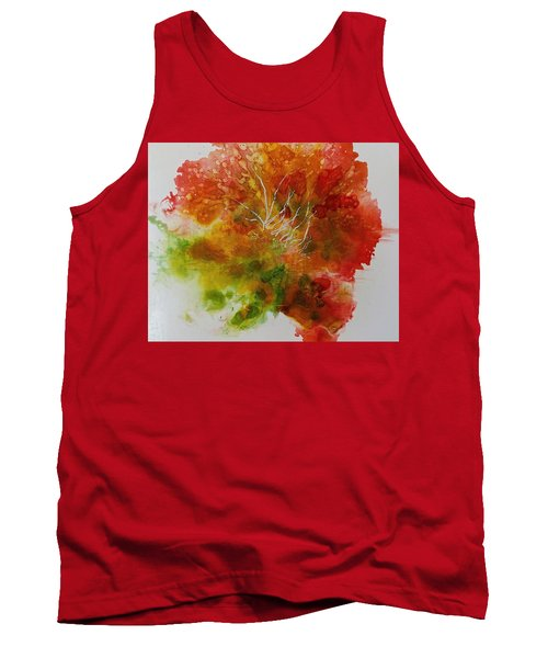 Tank Top featuring the painting Burst Of Nature by Carolyn Rosenberger