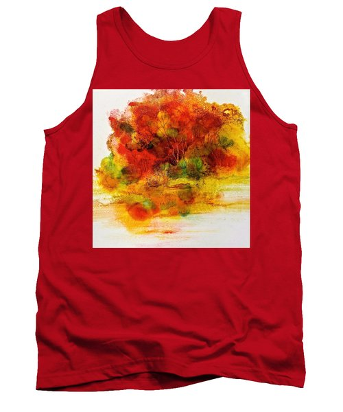 Tank Top featuring the painting Burst Of Nature IIi by Carolyn Rosenberger