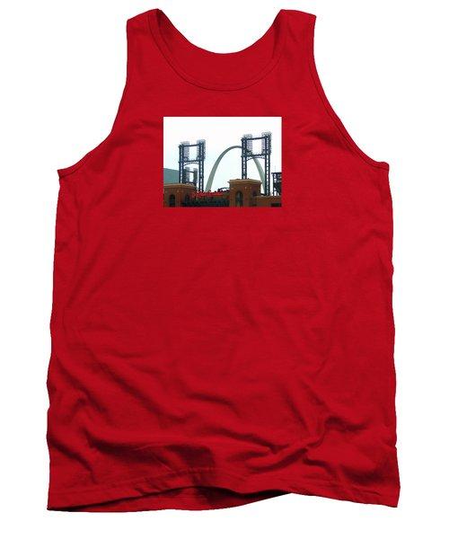 Busch Stadium With Arch Tank Top