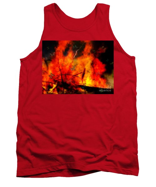 Butterflies And Flame Tank Top