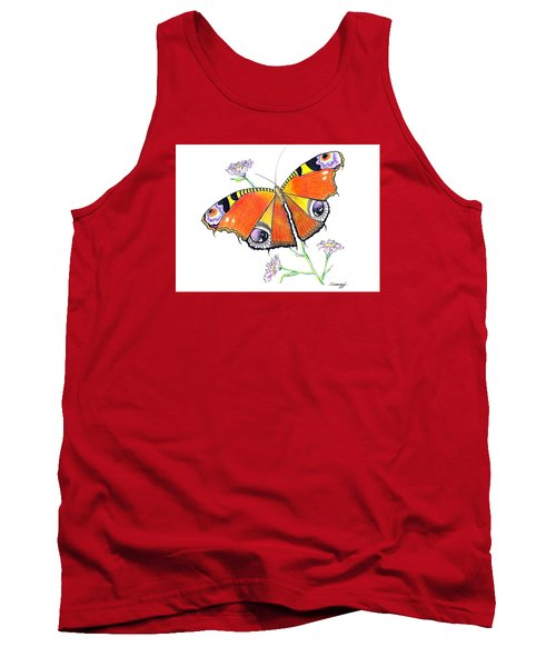Butterfly Dressed For A Masquerade Ball Tank Top