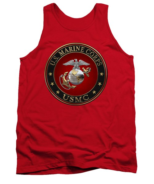 C O And Warrant Officer E G A Special Edition Over Red Velvet Tank Top