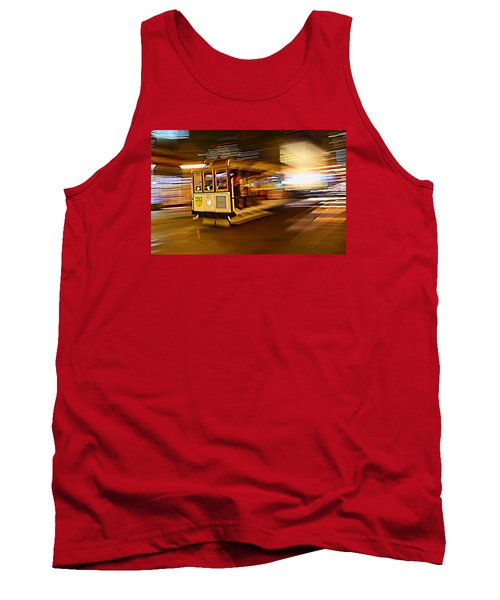 Tank Top featuring the photograph Cable Car At Light Speed by Steve Siri