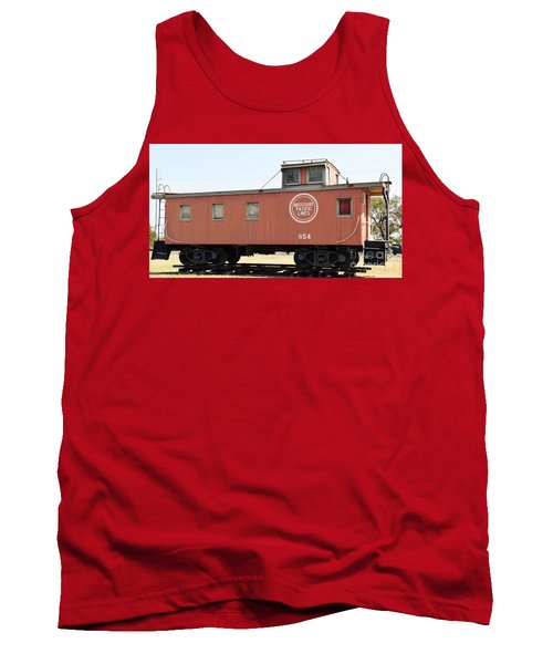 Tank Top featuring the photograph Caboose by Ray Shrewsberry
