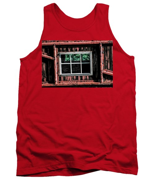Tank Top featuring the photograph Caboose Window by Brad Allen Fine Art
