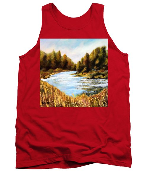Tank Top featuring the painting Calapooia River by Marti Green