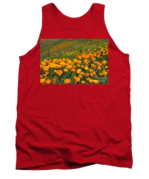 California Golden Poppies And Goldfields Tank Top by Glenn McCarthy