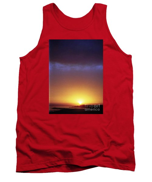 California Ocean Sunset Tank Top by Ted Pollard