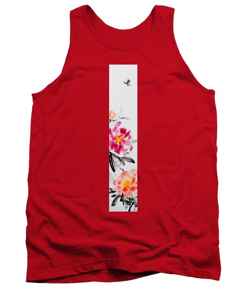 Camellia And Butterfly Tank Top