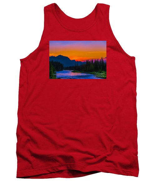 Canadian Rocky Sunset Tank Top by John Roberts