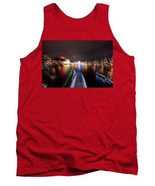 Canal Streaking Abstract Tank Top