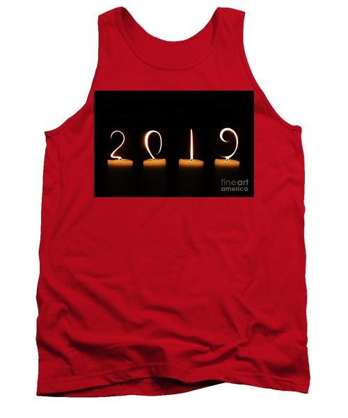 Candles New Year Card Tank Top