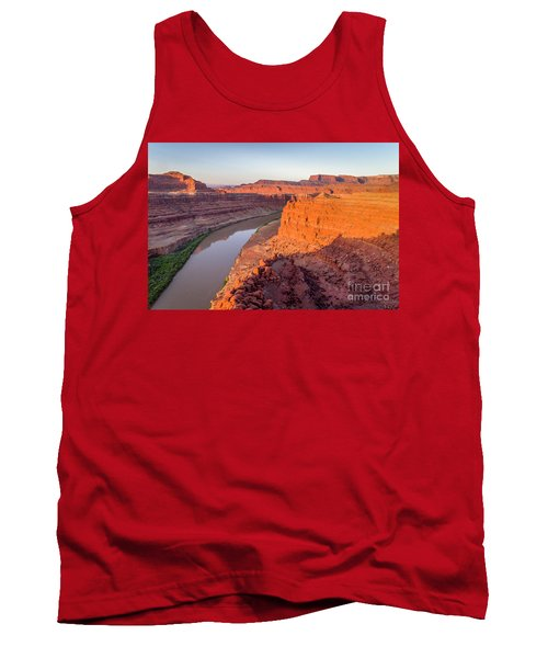 Canyon Of Colorado River - Sunrise Aerial View Tank Top