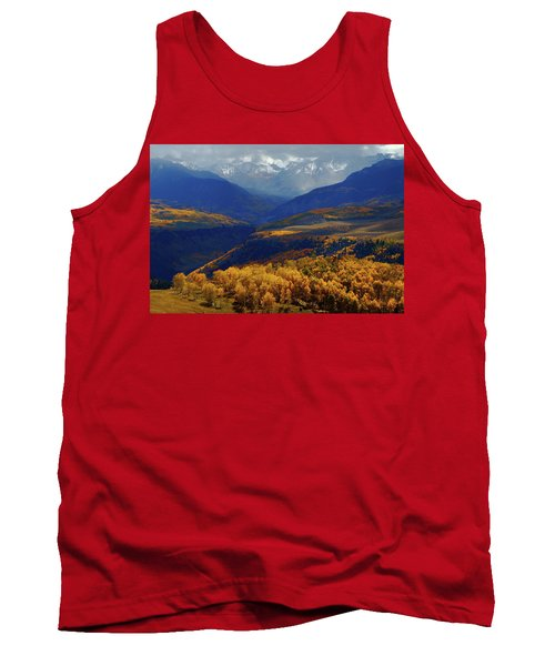 Canyon Shadows And Light From Last Dollar Road In Colorado During Autumn Tank Top