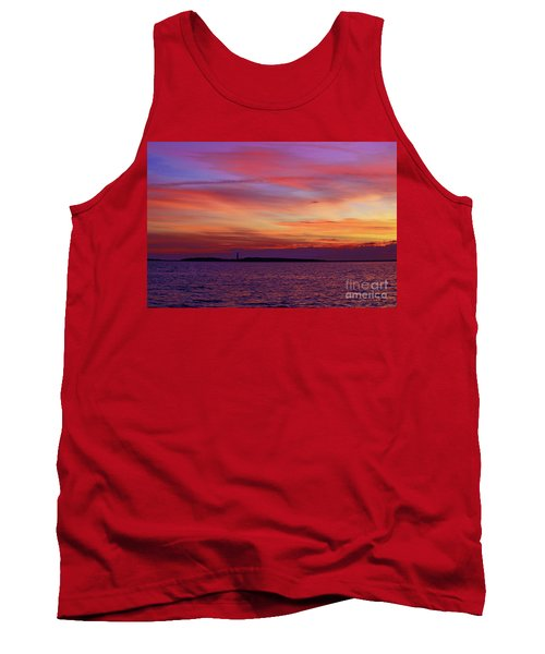 Cape Lookout Lighthouse At Sunrise Tank Top