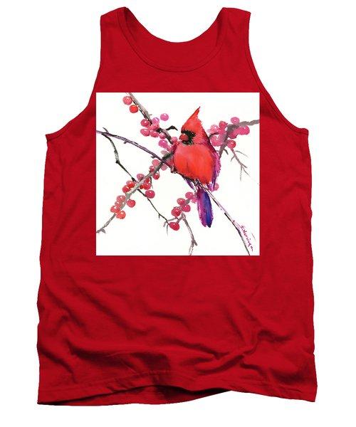 Cardinal And Berries Tank Top
