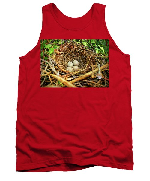 Brown Thrasher Nest And Eggs Tank Top by Bellesouth Studio