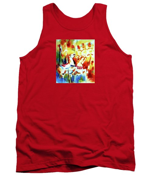 Tank Top featuring the painting Carousal 4 by Kathy Braud