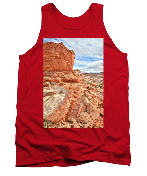 Castle High Above Wash 5 In Valley Of Fire Tank Top by Ray Mathis