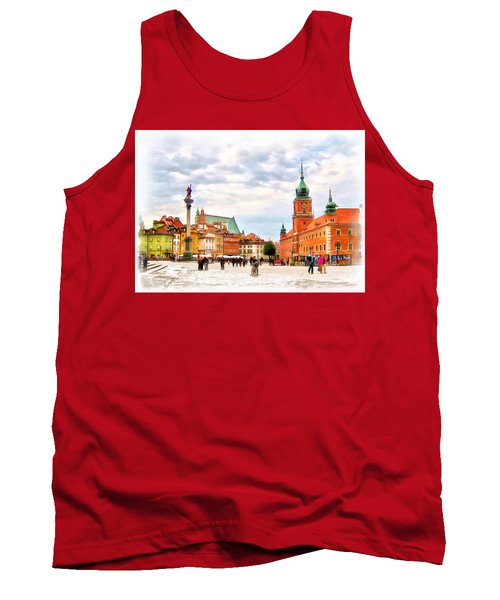 Tank Top featuring the painting Castle Square, Warsaw by Maciek Froncisz