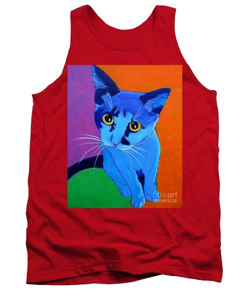 Cat - Kitten Blue Tank Top