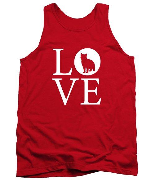 Cat Love Red Tank Top