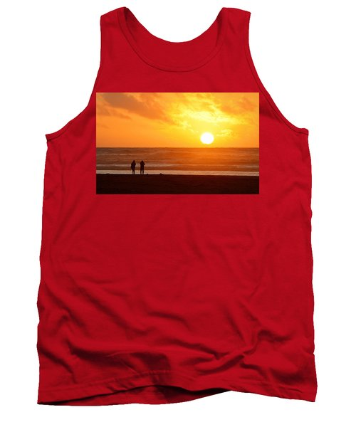 Catching A Setting Sun Tank Top by AJ Schibig