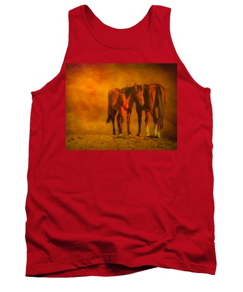 Catching The Last Sun Digital Painting Tank Top