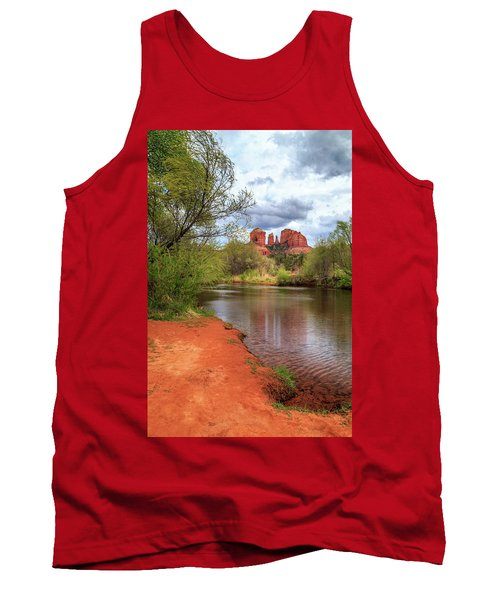 Tank Top featuring the photograph Cathedral Rock From Oak Creek by James Eddy