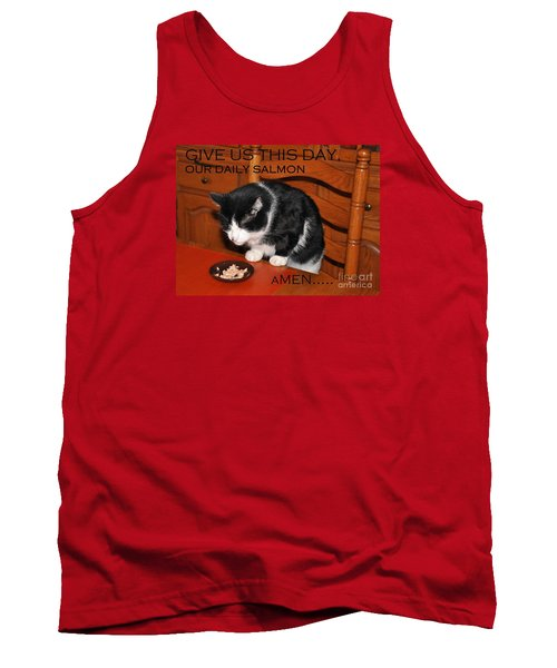Cat's Prayer Revisited By Teddy The Ninja Cat Tank Top by Reb Frost