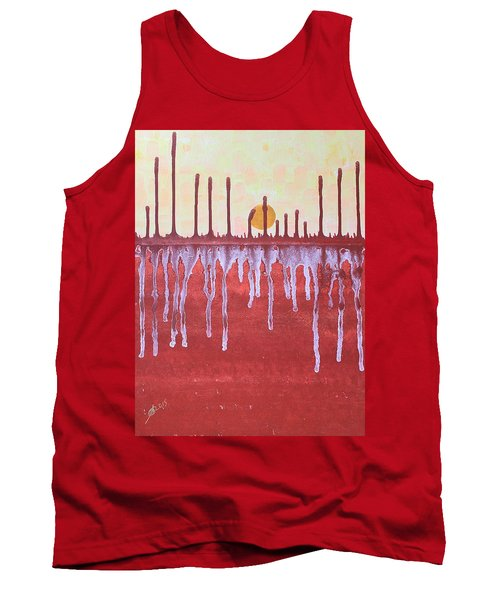 Cattails Original Painting Sold Tank Top by Sol Luckman