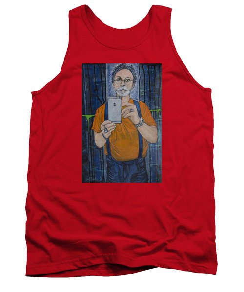 Caught In The Act Of Growing Old Self Portrait Tank Top by Ron Richard Baviello