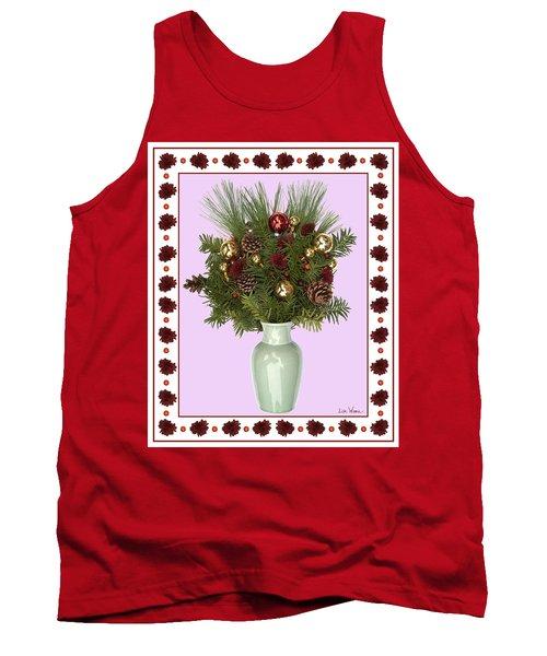 Celadon Vase With Christmas Bouquet Tank Top