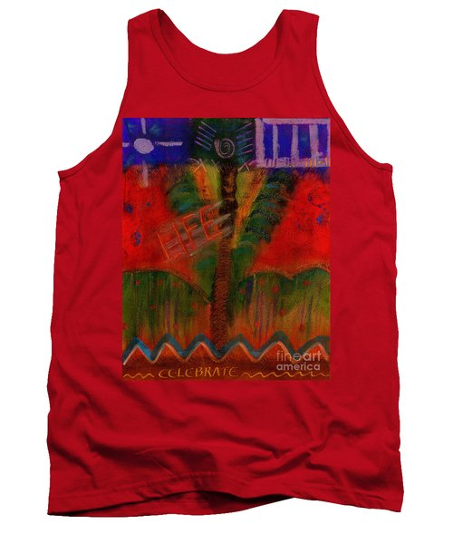Tank Top featuring the painting Celebrate Life by Angela L Walker