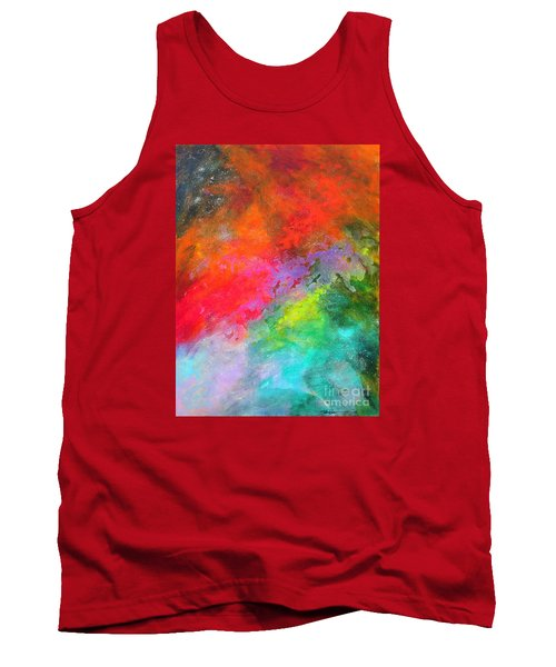 Fantasies In Space Series Painting. Celestial Concerto. Painting.  Tank Top
