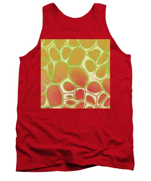 Cells Abstract Five Tank Top by Edward Fielding