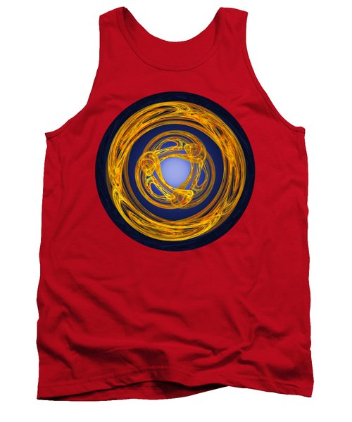 Tank Top featuring the digital art Celtic Abstract On Blue by Jane McIlroy
