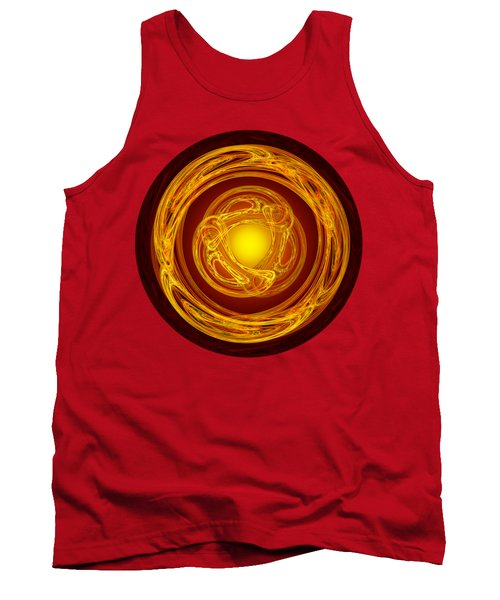 Celtic Abstract On Red Tank Top