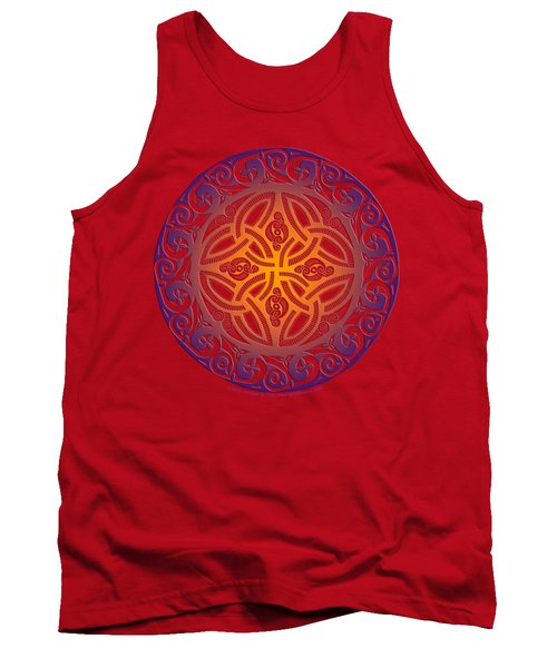 Tank Top featuring the mixed media Celtic Shield by Kristen Fox