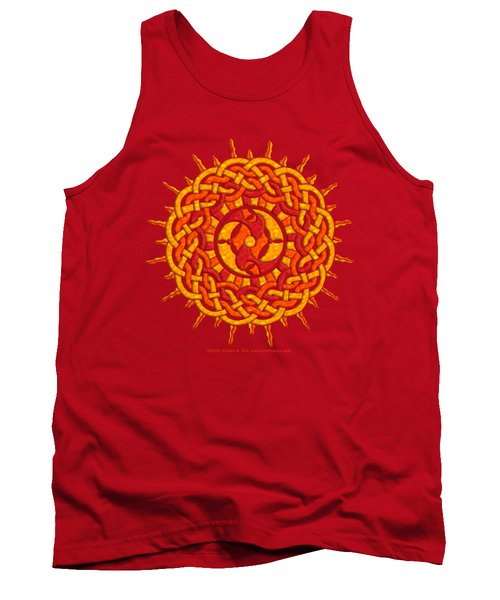 Tank Top featuring the mixed media Celtic Sun by Kristen Fox