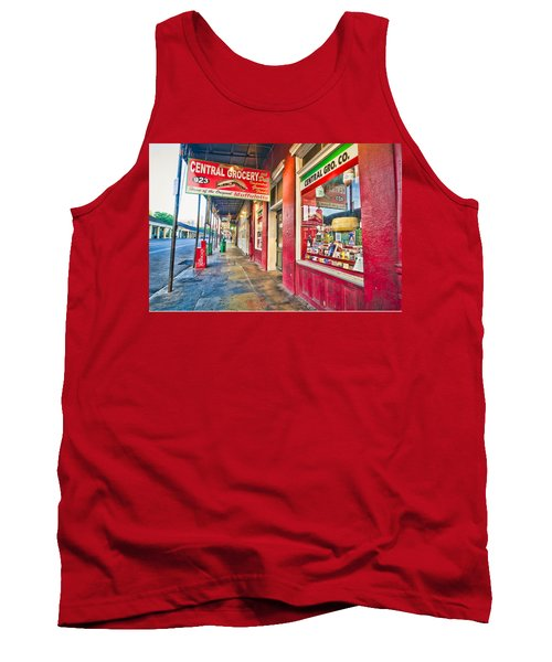Tank Top featuring the photograph Central Grocery And Deli In The French Quarter by Andy Crawford