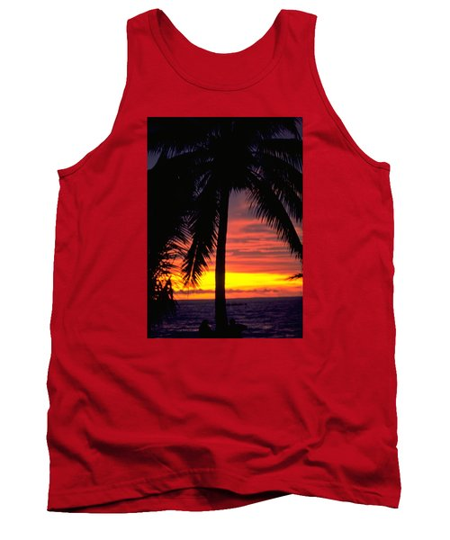 Champagne Sunset Tank Top by Travel Pics