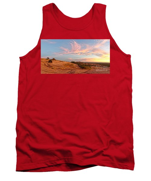 Chasing Angels Of Light Over Enchanted Rock - Fredericksburg Texas Hill Country Tank Top
