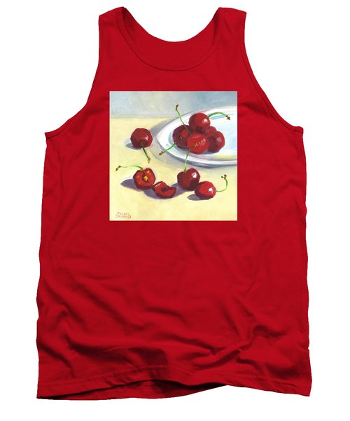 Cherries On A Plate Tank Top by Susan Thomas