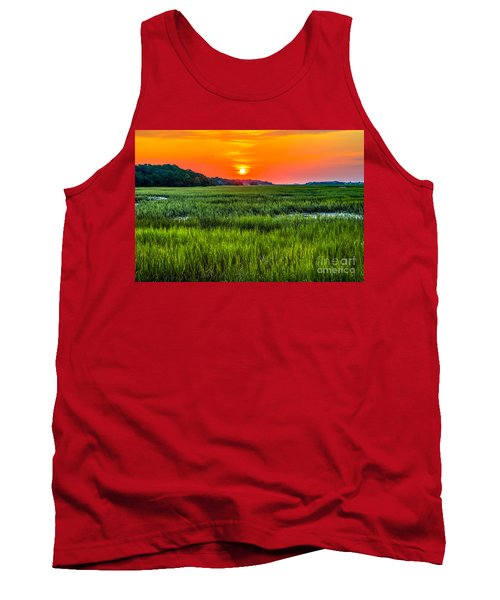 Cherry Grove Marsh Sunrise Tank Top