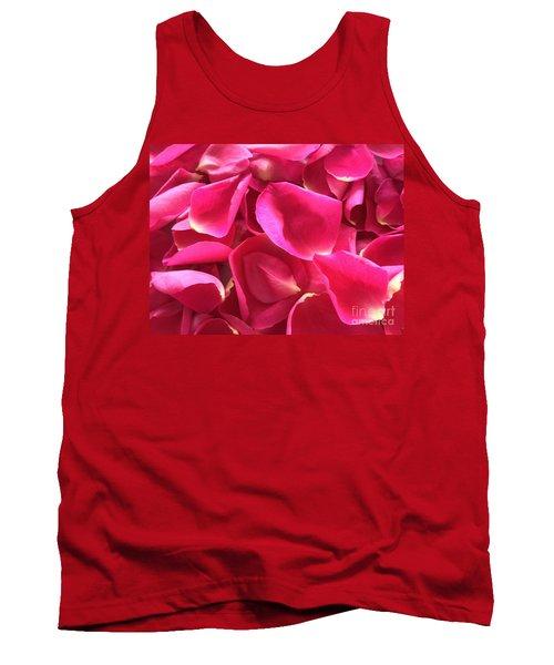 Cherry Pink Rose Petals Tank Top