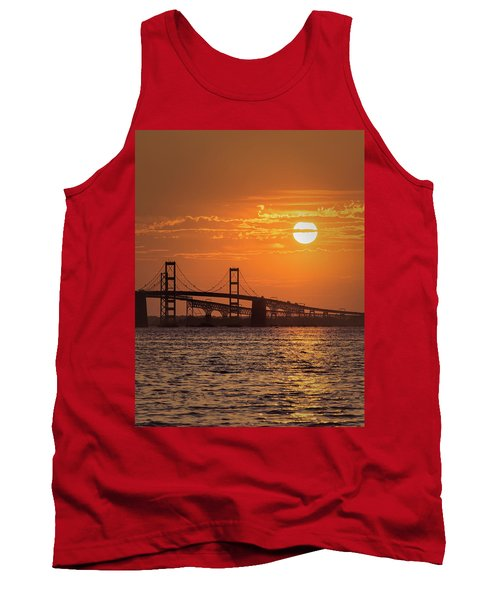 Chesapeake Bay Bridge Sunset II Tank Top
