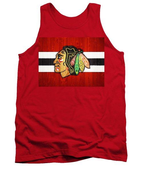 Chicago Blackhawks Barn Door Tank Top
