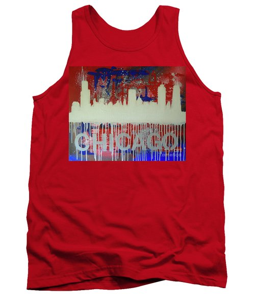 Tank Top featuring the painting Chicago Drip by Melissa Goodrich
