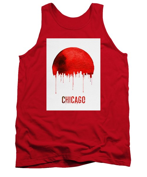 Chicago Skyline Red Tank Top by Naxart Studio